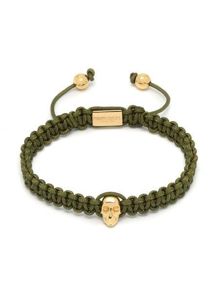 Zielona złota bransoletka łańcuch pozłacana Northskull