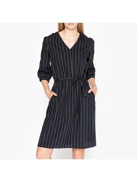 Платье миди на пуговицах с V-образным вырезом с рисунком на резинке Harris Wilson