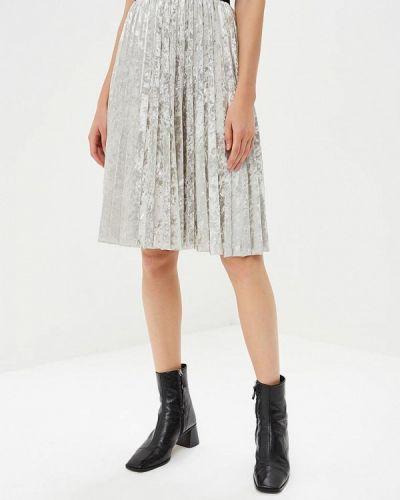 Плиссированная юбка итальянский серая Perfect J