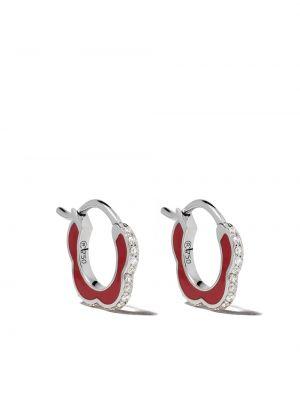 Белые серьги-кольца Raphaele Canot