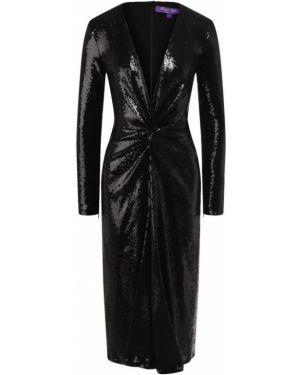 Платье миди с пайетками облегающее Ralph Lauren