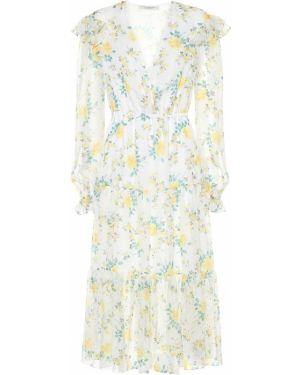 Летнее платье миди с цветочным принтом Philosophy Di Lorenzo Serafini