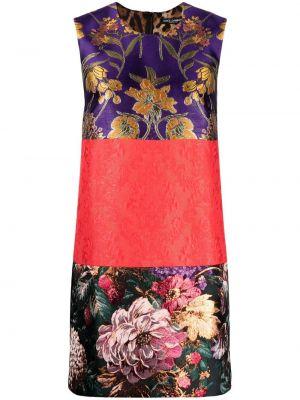 Фиолетовое шелковое платье трапеция Dolce & Gabbana
