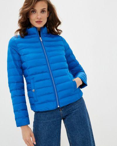 Теплая синяя утепленная куртка Defacto