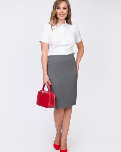 Костюмная юбка карандаш из вискозы с поясом Diolche