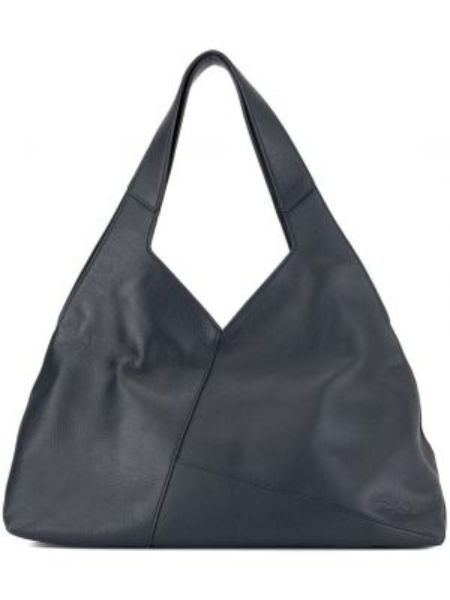 Кожаная синяя сумка-тоут матовая Discord Yohji Yamamoto