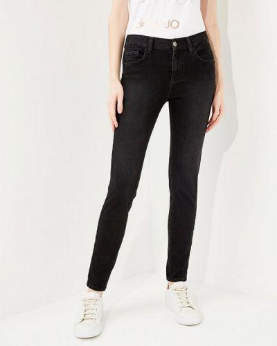 Черные джинсы с высокой посадкой Liu Jo Jeans
