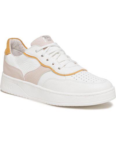 Buty sportowe skorzane - białe Ryłko