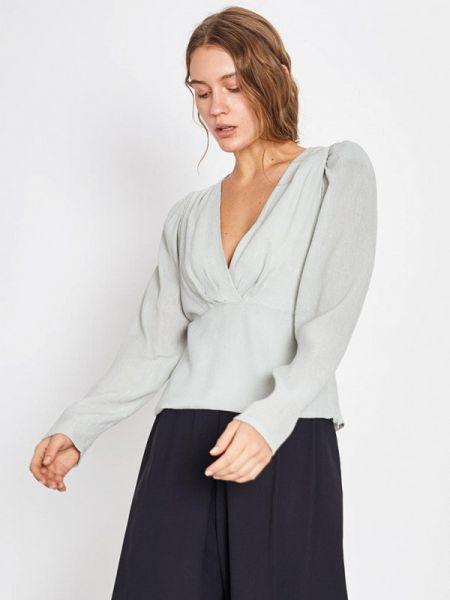Блузка с длинным рукавом бирюзовая весенний Lime