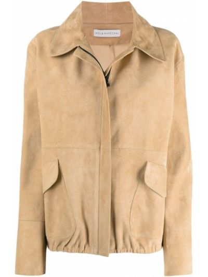 Прямая кожаная куртка на молнии Inès & Maréchal