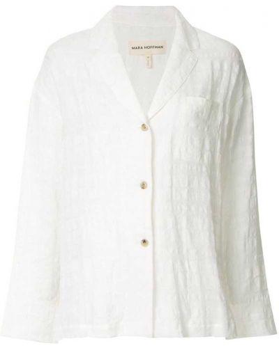 Классическая рубашка белая с карманами Mara Hoffman