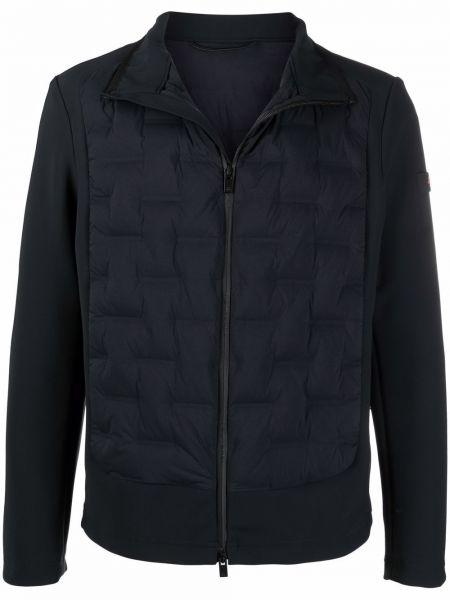 Черная куртка на молнии с нашивками Peuterey