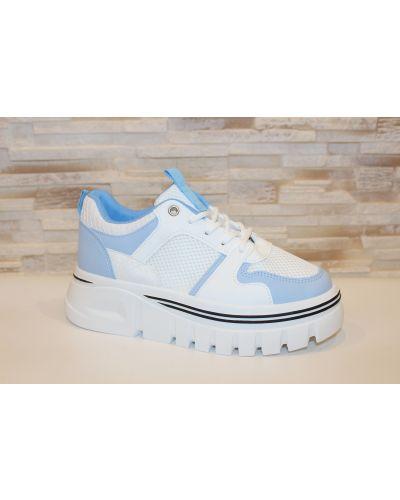 Кожаные кроссовки - белые Loretta