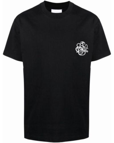 Czarna koszulka krótki rękaw Soulland