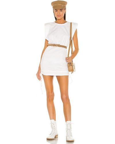 Хлопковое белое платье мини Bardot