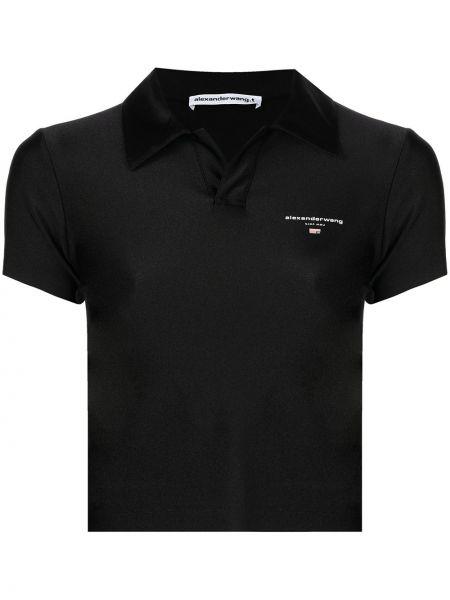 Черная рубашка с воротником Alexanderwang.t