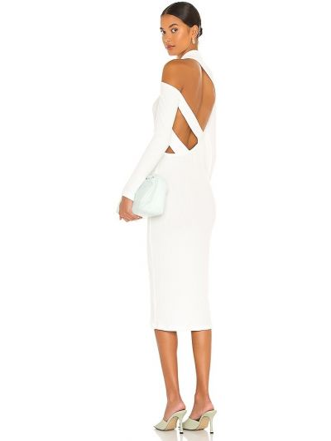 Белое платье из спандекса Lna