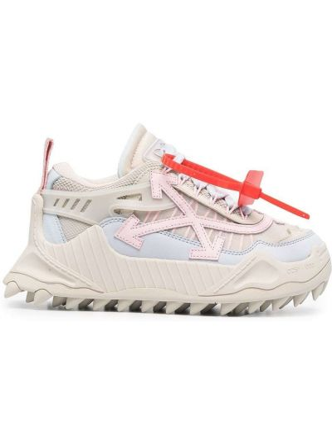 Со стрелками белые кроссовки на шнуровке Off-white