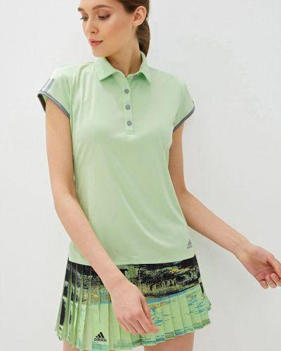 Поло зеленый Adidas