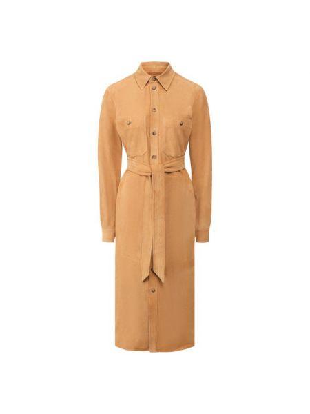 Платье с поясом классическое платье-рубашка Polo Ralph Lauren