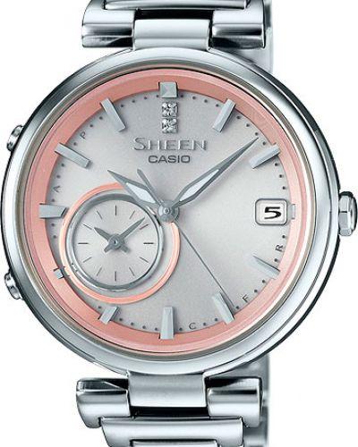 Кварцевые часы водонепроницаемые с камнями с подсветкой Casio