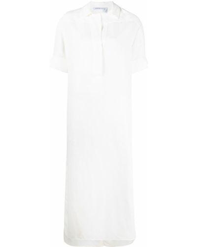 Белое платье мини трапеция с воротником Agnona