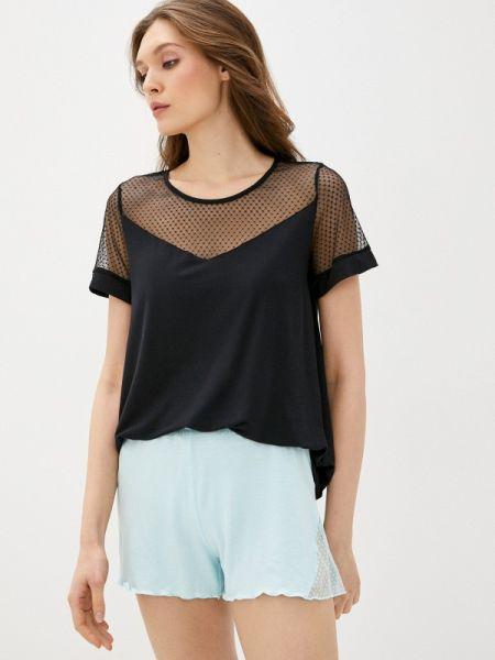 Весенняя домашняя черная футболка Дефиле