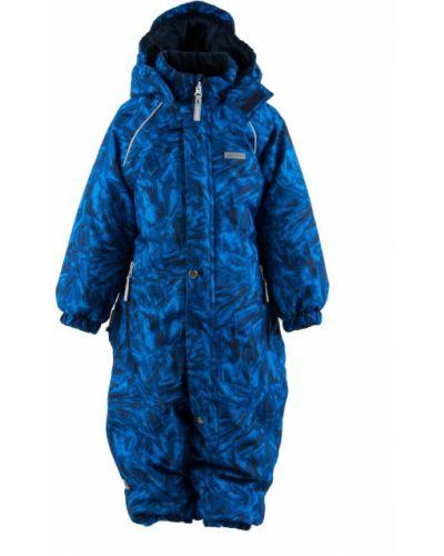 Зимний комбинезон черный синий Kerry
