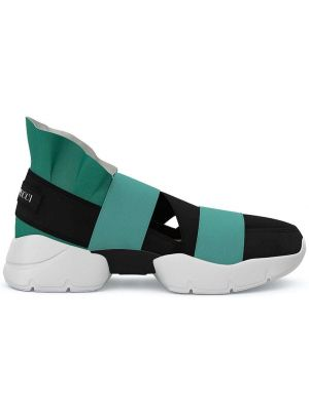 Wysoki sneakersy skórzane białe Emilio Pucci