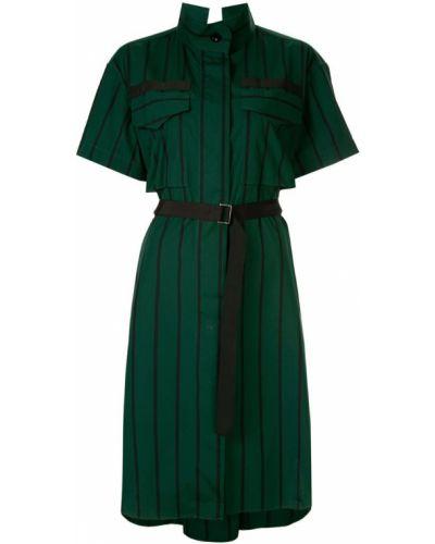 Платье мини с открытой спиной макси Sacai