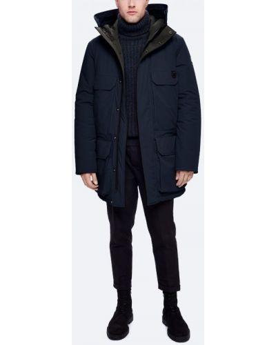 Длинная куртка синяя тонкая Kanuk