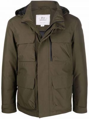 Стеганая куртка - зеленая Woolrich