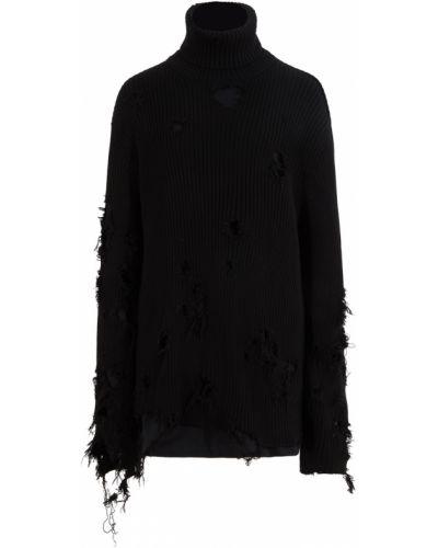 Черная хлопковая свитер Balenciaga