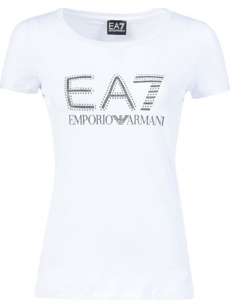 Хлопковая футболка - белая Ea7 Emporio Armani