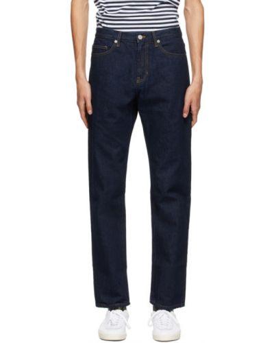 Prosto niebieski jeansy o prostym kroju rozciągać Norse Projects