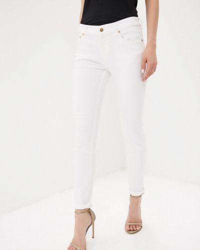 Зауженные джинсы - белые Versus Versace