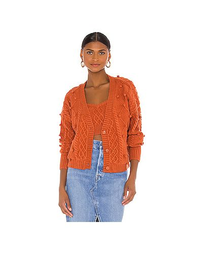 Оранжевый акриловый свитер For Love & Lemons