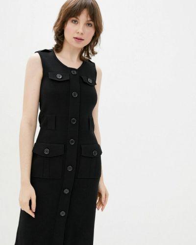 Повседневное черное платье Dasti
