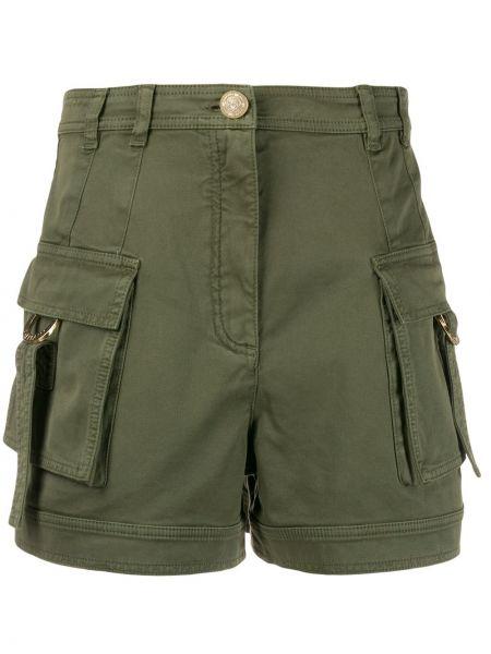 Хлопковые шорты милитари с карманами Balmain