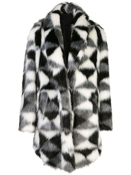 Длинное пальто с капюшоном на крючках Unravel Project