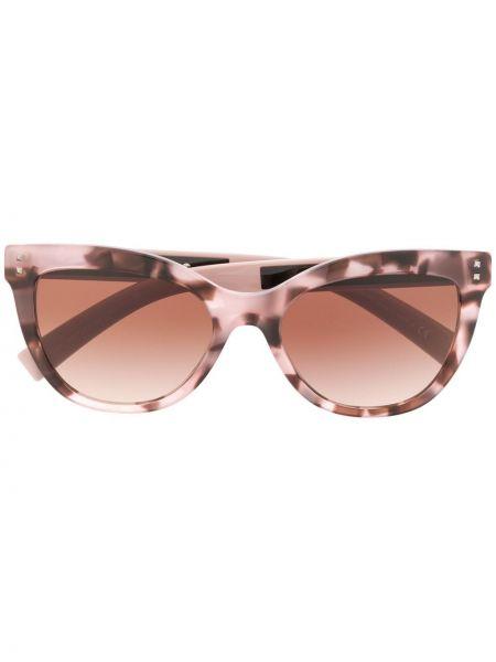 Муслиновые солнцезащитные очки хаки Valentino Eyewear