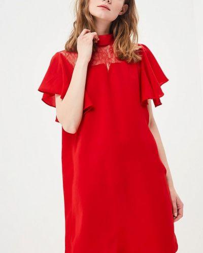 Платье весеннее красный Sweewe