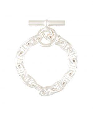 Серебряный браслет винтажный Hermès