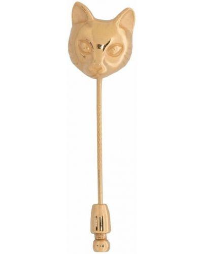 Złota broszka Lanvin