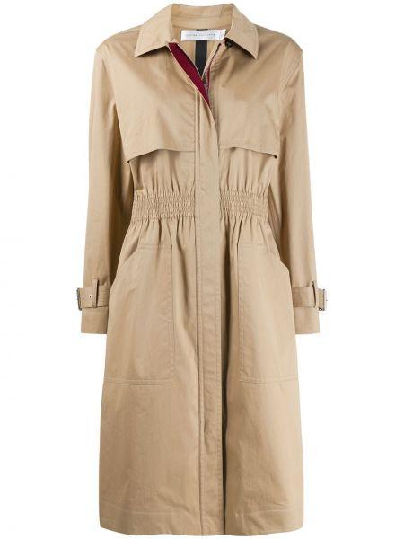 Długi płaszcz klasyczny krótki Victoria Beckham