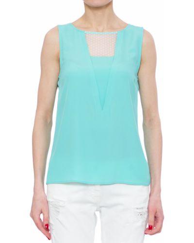Блузка шелковая зеленый Patrizia Pepe