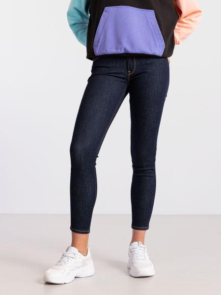 Синие хлопковые джинсы-скинни Lee