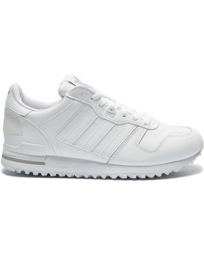 Кожаные белые кроссовки с подкладкой Adidas
