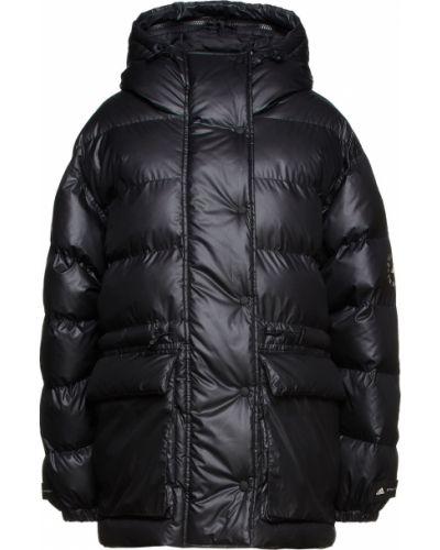 Пуховая черная куртка с капюшоном Adidas By Stella Mccartney