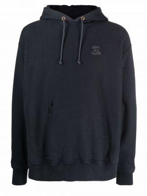 Czarny klasyczny pulower bawełniany Gallery Dept.